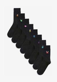 Next - 8 PACK - Socks - black - 0
