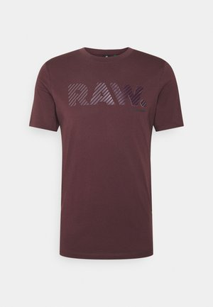 3D RAW LOGO SLIM  - T-shirt print - dark fig