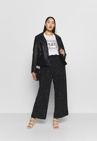 Dorothy Perkins Curve - PALAZZO - Trousers - black - 1