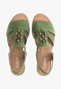 Gabor - Wedge sandals - grã¼n - 0
