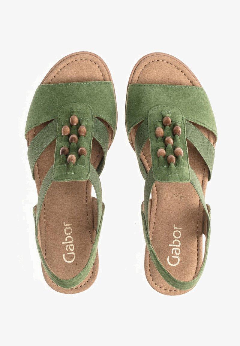 Gabor - Wedge sandals - grã¼n
