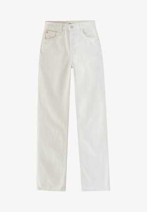 Džíny Straight Fit - mottled beige