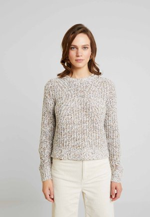 CREW TIPPED STRIPE - Sweter - multi/natural