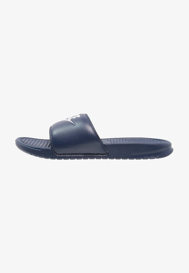 BENASSI JDI - Pool slides - midnight navy/windchill