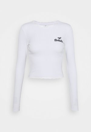SLIM TREND - Long sleeved top - white