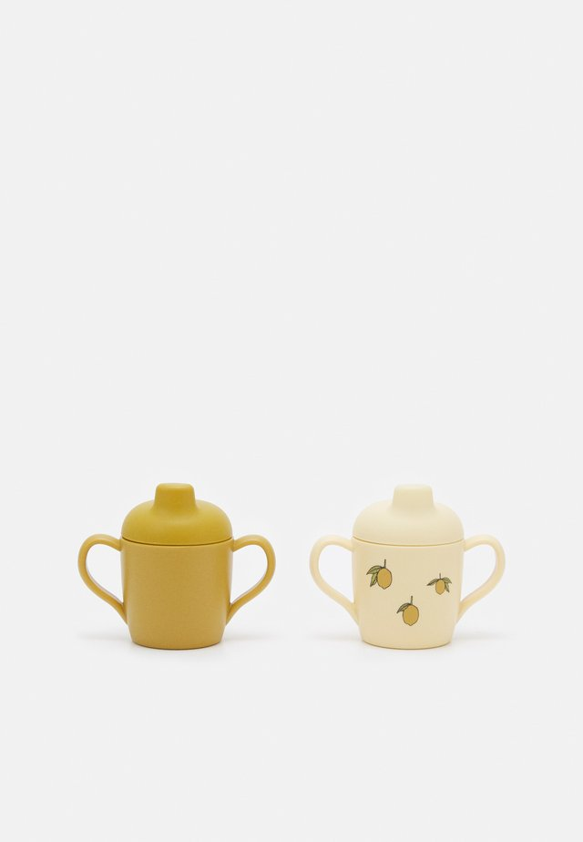 SIPPY CUP 2 PACK UNISEX - Tuttipullo - beige/yellow
