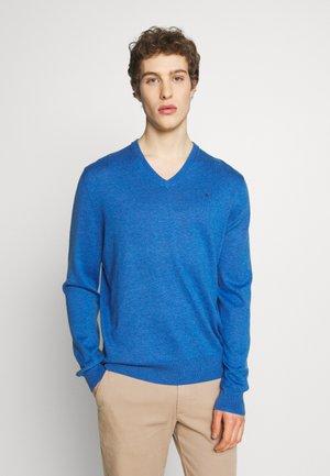V NECK - Jumper - blue