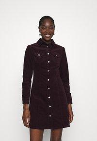 Dorothy Perkins - STRUCTURED SHIRT DRESS - Shirt dress - purple - 0