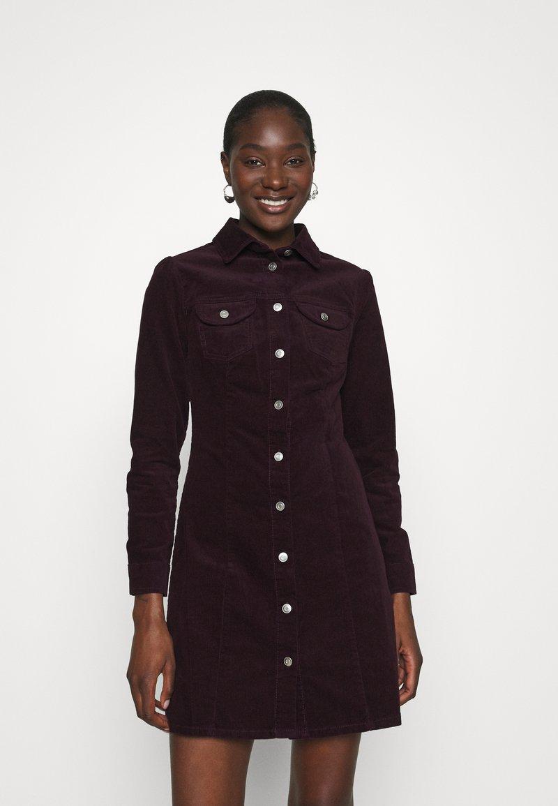 Dorothy Perkins - STRUCTURED SHIRT DRESS - Shirt dress - purple