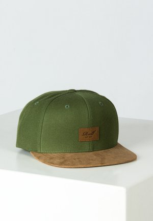 SUEDE - Cap - army olive