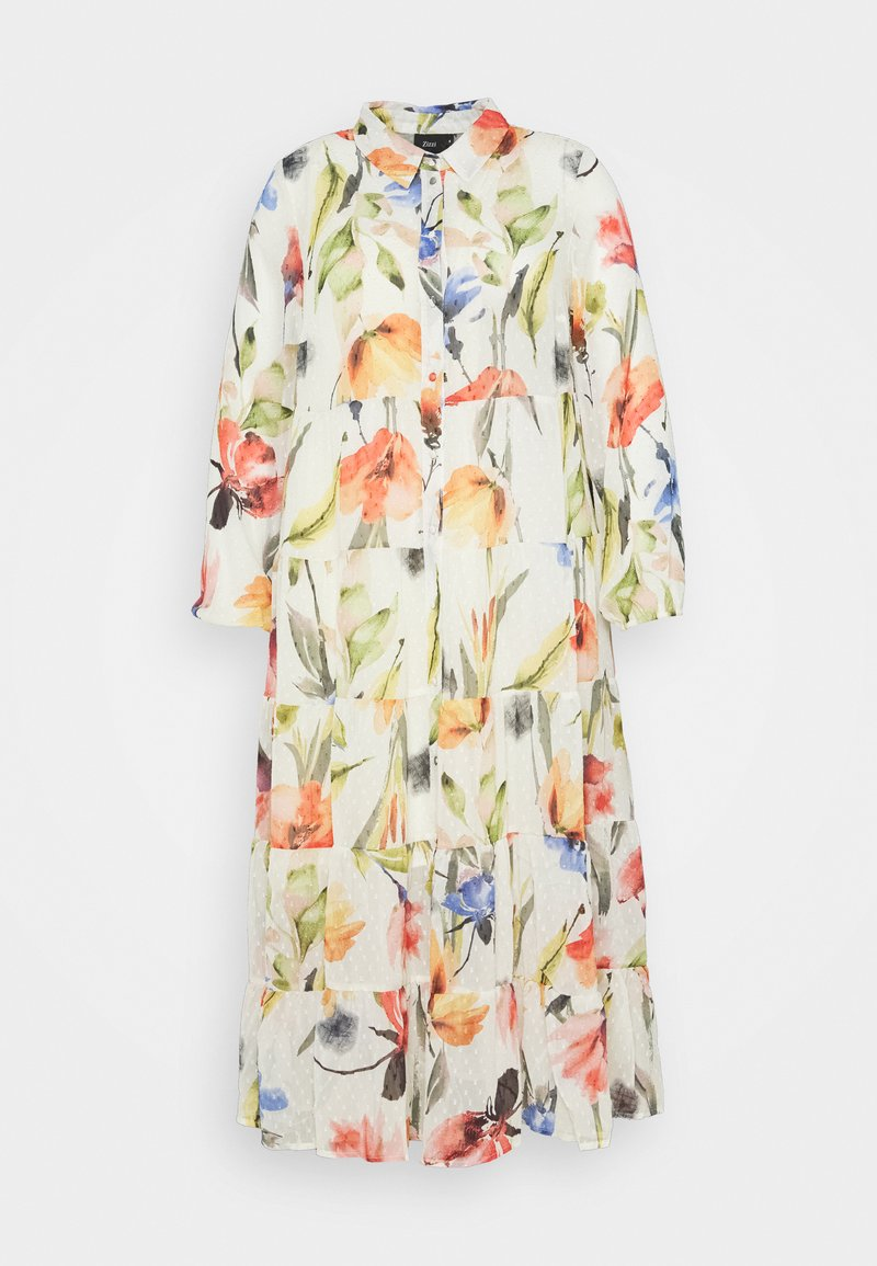 Zizzi - MILUNA DRESS  - Shirt dress - snow white