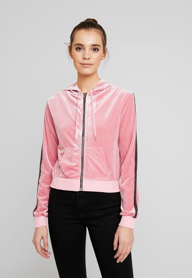 LAVINA HOODIE - veste en sweat zippée - baby pink