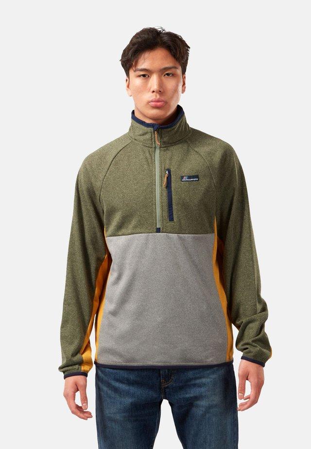 Fleece jumper - parka green m./cloud grey