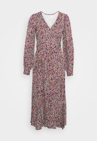 MICHAEL Michael Kors - TIERED WRAP DRESS - Day dress - dark ruby - 6