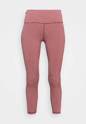 ECLIPSE ZIPPER POCKET PANT - Tights - red