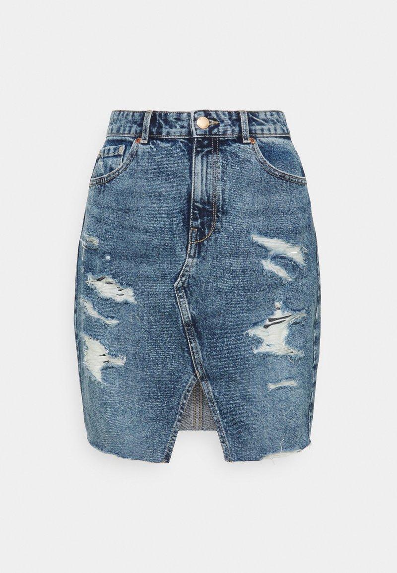 ONLY Tall - ONLISABEL LIFE - Mini skirt - medium blue denim