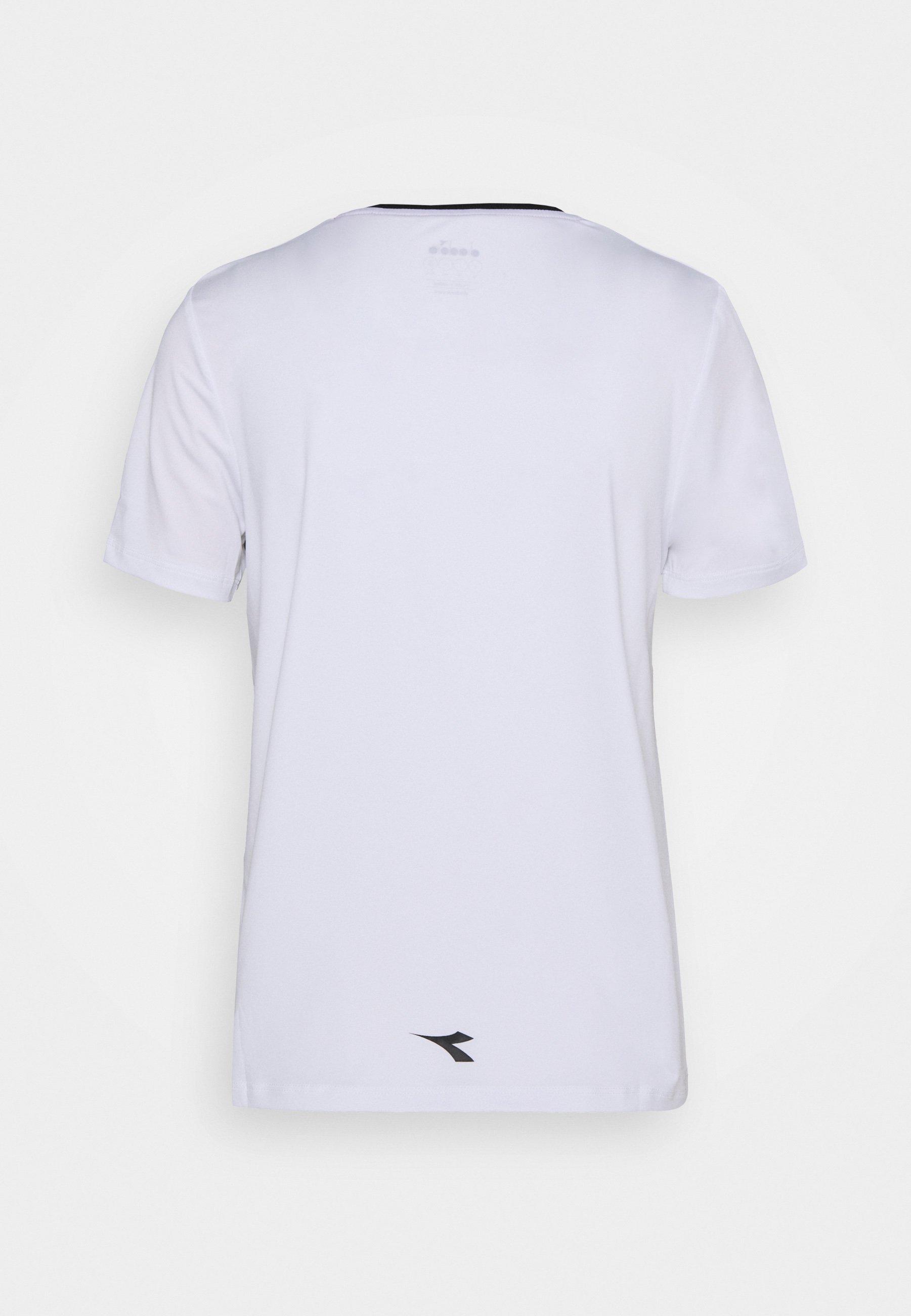 Diadora T-shirt Imprimé - Optical White/black