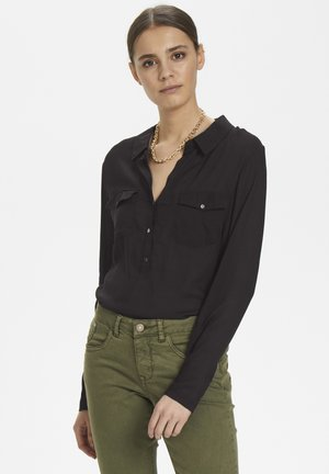 HONEY SHIRT - Button-down blouse - pitch black
