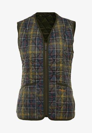 BETTY LINER - Waistcoat - olive