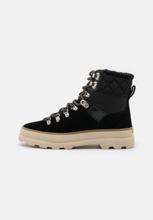 KAARI MID LACE BOOT - Lace-up ankle boots - black