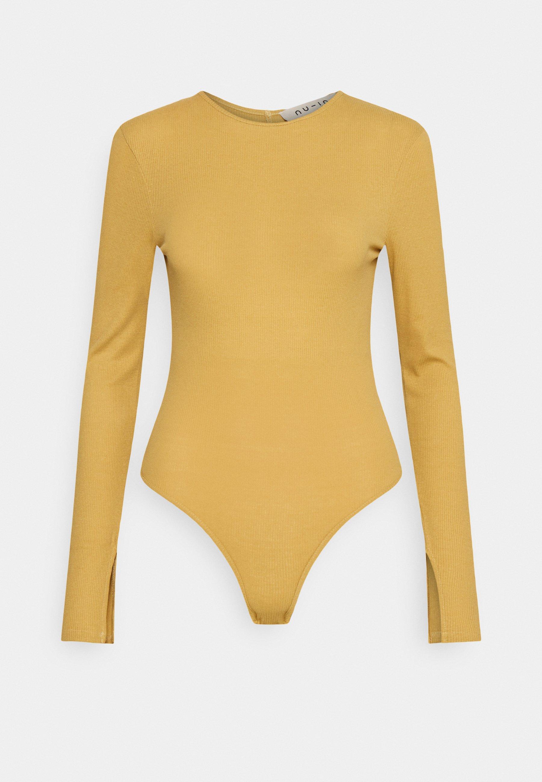 Women LONG SLEEVE OPEN BACK BODYSUIT - Long sleeved top