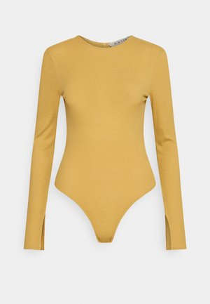 LONG SLEEVE OPEN BACK BODYSUIT - Long sleeved top - curry