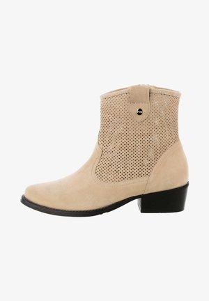 NEZZANO - Kovbojské/motorkářské boty - beige