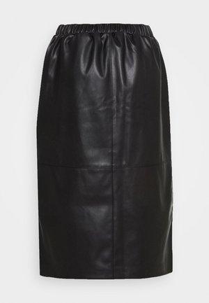 MODERN CLASSIC - Pencil skirt - deep black