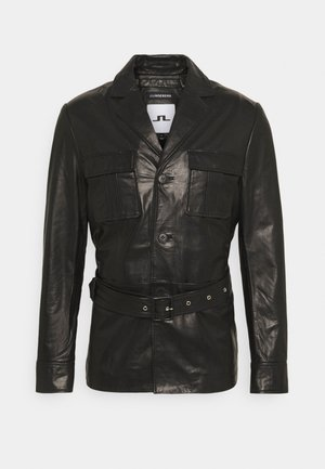 LUC JACKET - Leather jacket - black