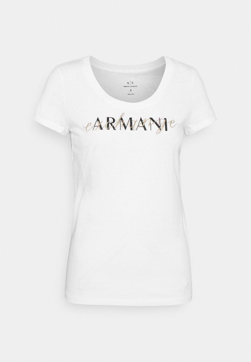 Armani Exchange - Print T-shirt - optic white