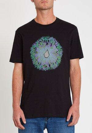CORAL MORPH SS - Print T-shirt - black