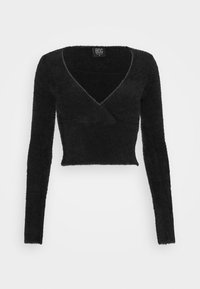 BDG Urban Outfitters - FLUFF BALET WRAP - Trui - black - 4
