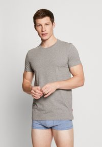 Levi's® - SOLID CREW 2 PACK - Undershirt - middle grey melange - 0