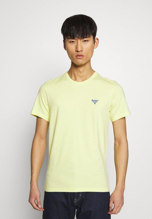 TEE - Jednoduché triko - pale lemon