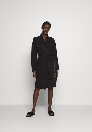 ICONIC LOUNGE ROBE - Dressing gown - black