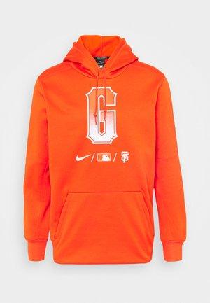 CITY CONNECT SAN FRANCISCO GIANTS BASEBALL THERMA HOODI - Klubové oblečení - orange