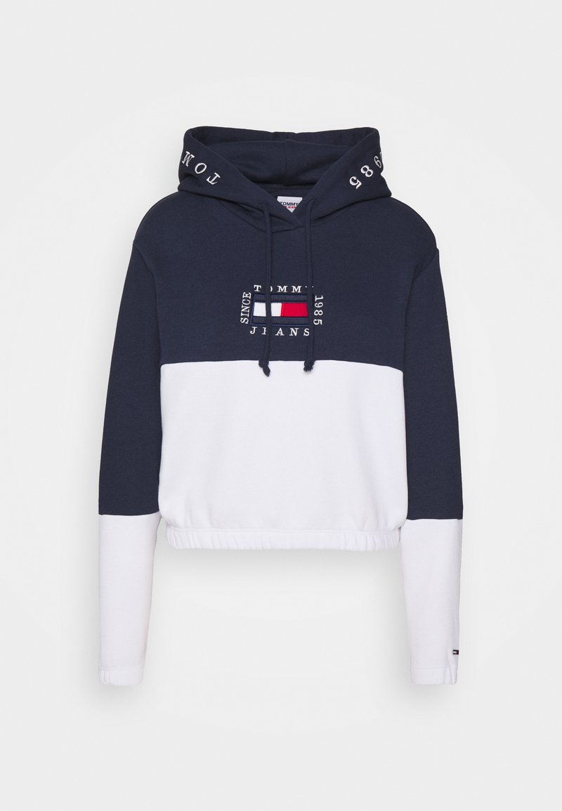 Tommy Jeans - COLOR BLOCK HOODIE - Sweat à capuche - twilight navy/white
