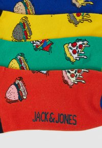 Jack & Jones - JACFAST FOOD SHORT SOCK 4 PACK - Stopki - blarney/yolk yellow/chili/surf - 1