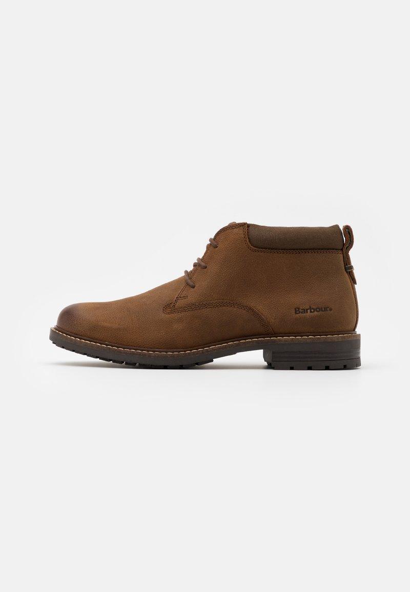 Barbour - BARNARD - Volnočasové šněrovací boty - teak