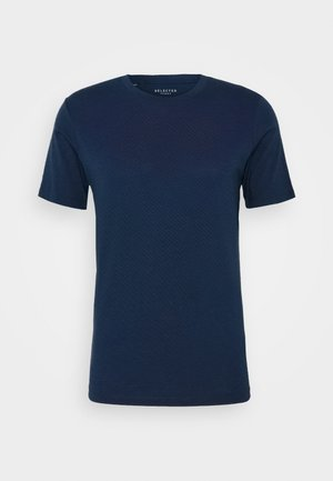 SHDTHEPERFECT ONECK TEE - T-shirts print - estate blue/black