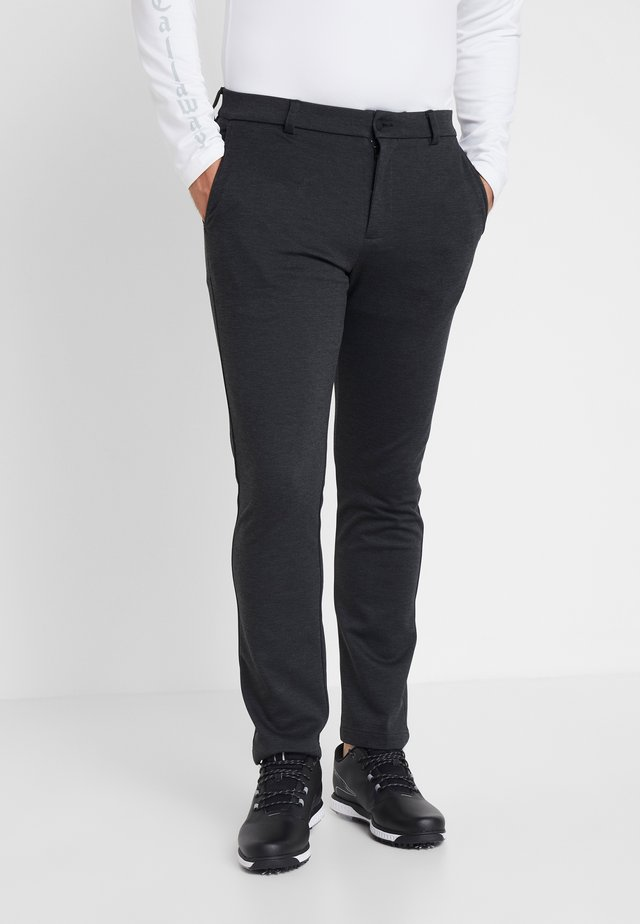 TAILORED TROUSER - Trousers - black heather