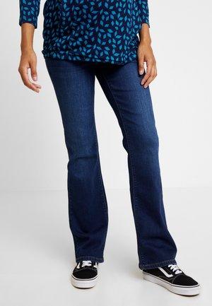 PANTS - Bootcut jeans - darkwash