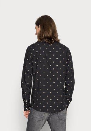REGULAR FIT COUPE MINI JACQUARD - Shirt - black, multi-coloured