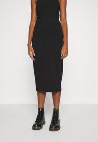 Even&Odd - 2 PACK - Pencil skirt - black/camel - 3