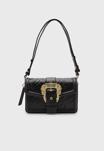 DEBOSSED MONOGRAM SHOULDER BAG - Handbag - nero