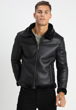 BLACKOUT - Kunstlederjacke - black