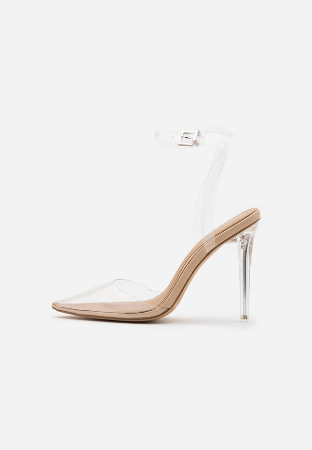 PERSPEX COURT SHOE - High Heel Pumps - nude