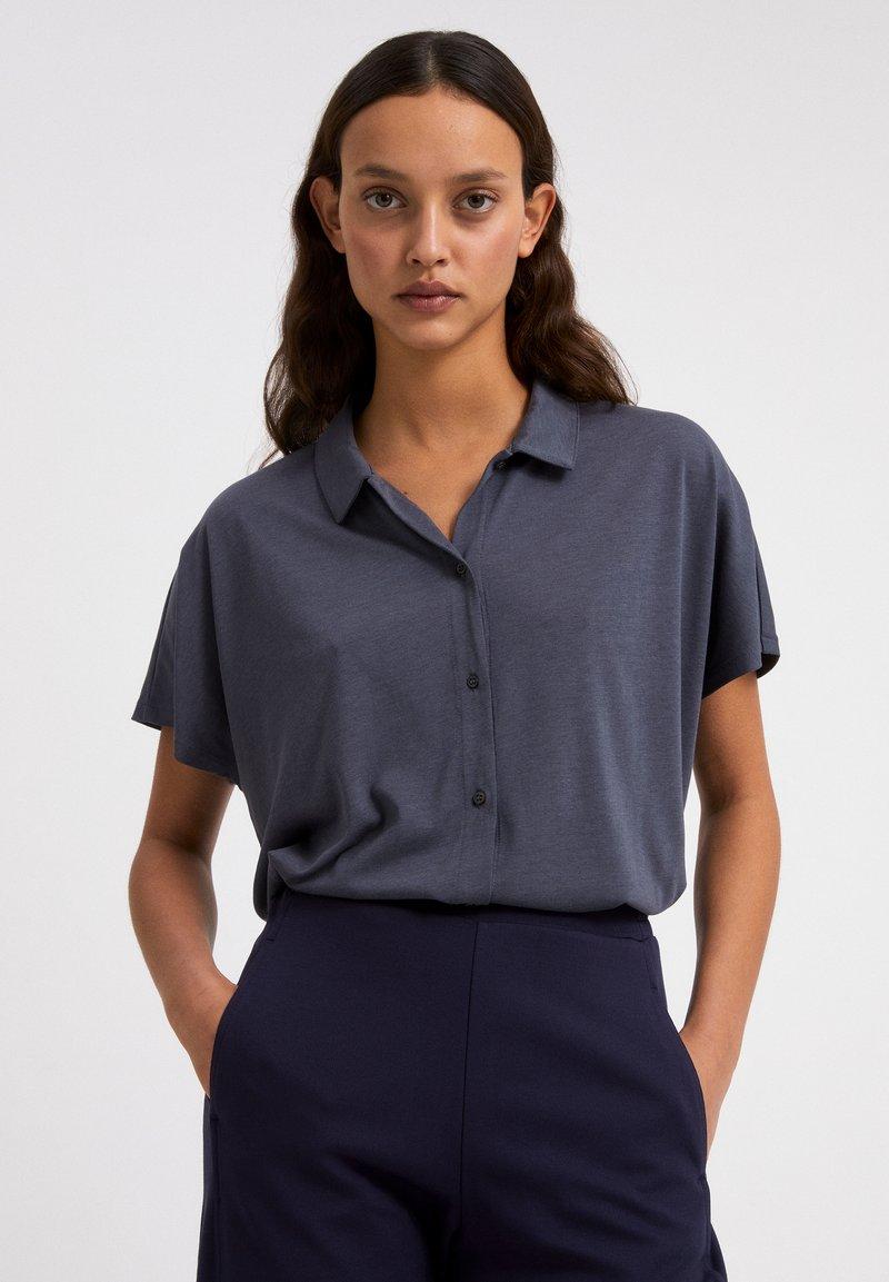 ARMEDANGELS - NAALA - Button-down blouse - indigo