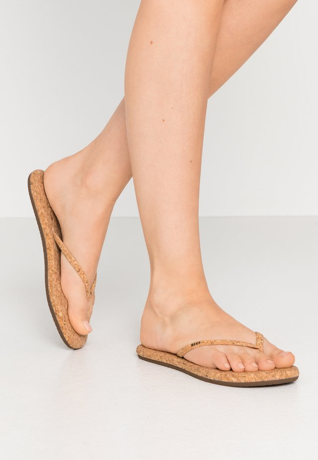 BLISS SUMMER - Flip Flops - beige