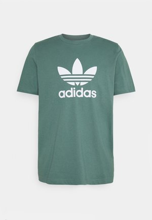 TREFOIL UNISEX - Print T-shirt - hazy emerald/white